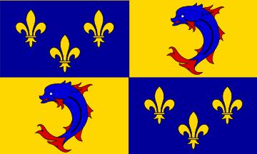Le drapeau de la région historique du Dauphiné
