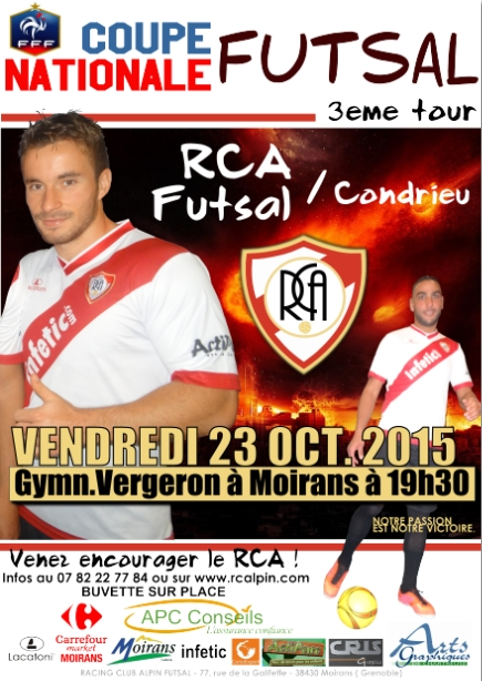 RCA vs. CONDRIEU 23 OCT. 2015